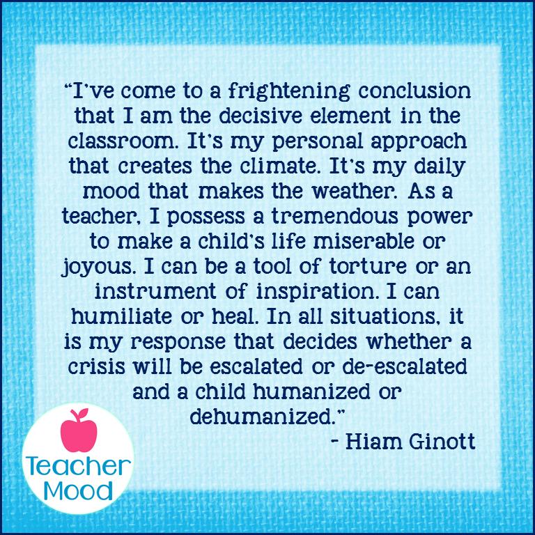 Hiam Ginott Quote TeacherMood