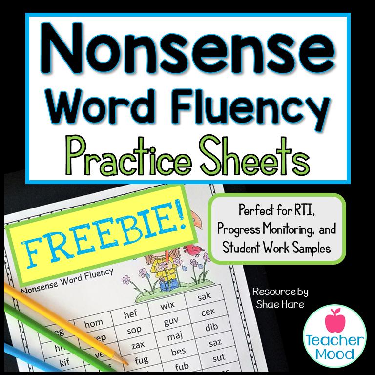 Nonsense Word Fluency Free Activity