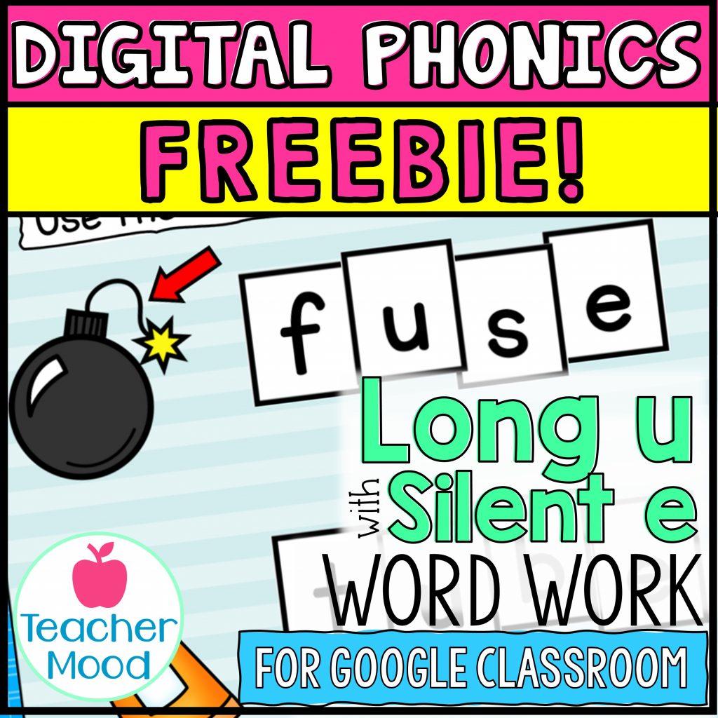 Digital Phonics Long Vowel U Free Google Slides Activity