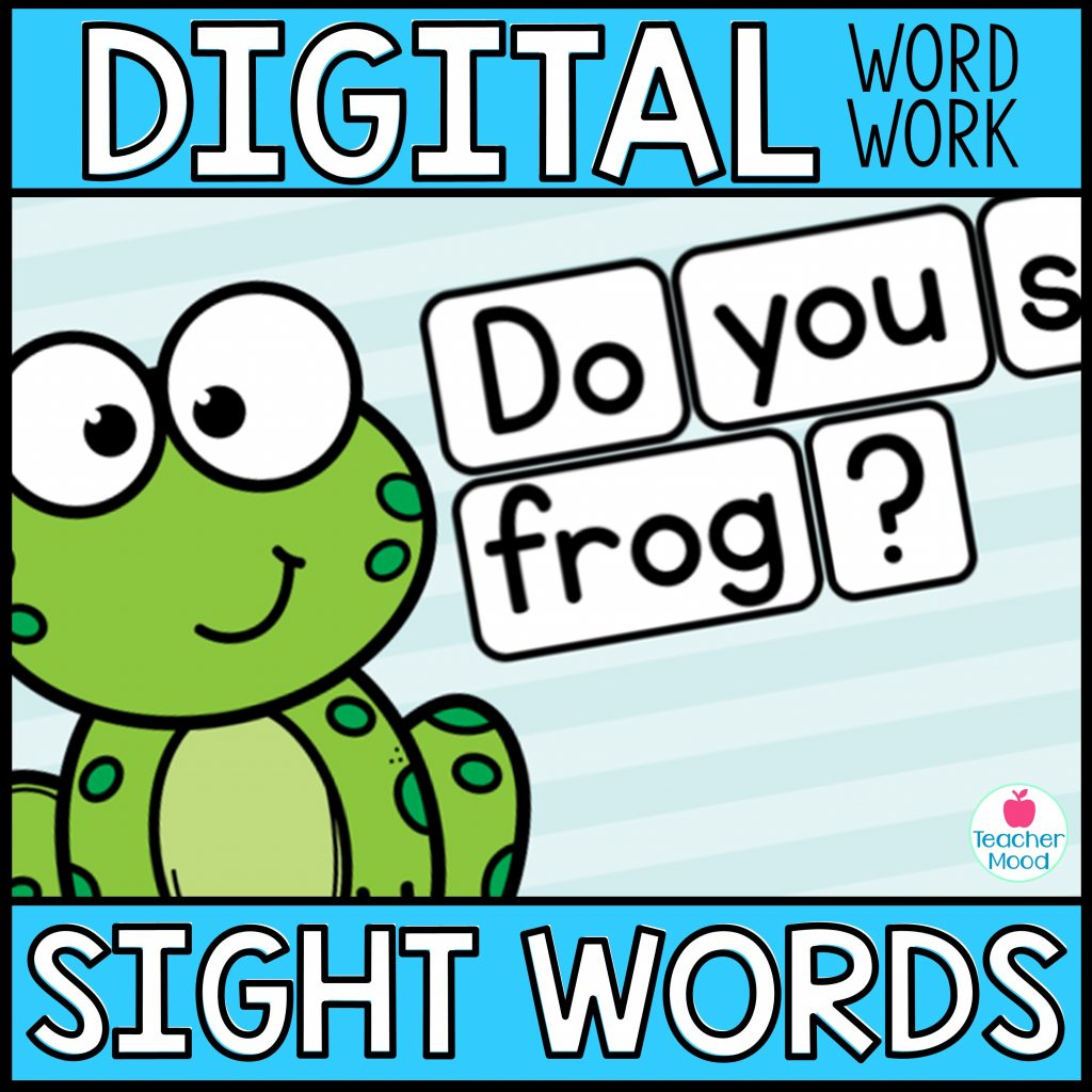 Digital Sight Word Activity for Google Slides FREE