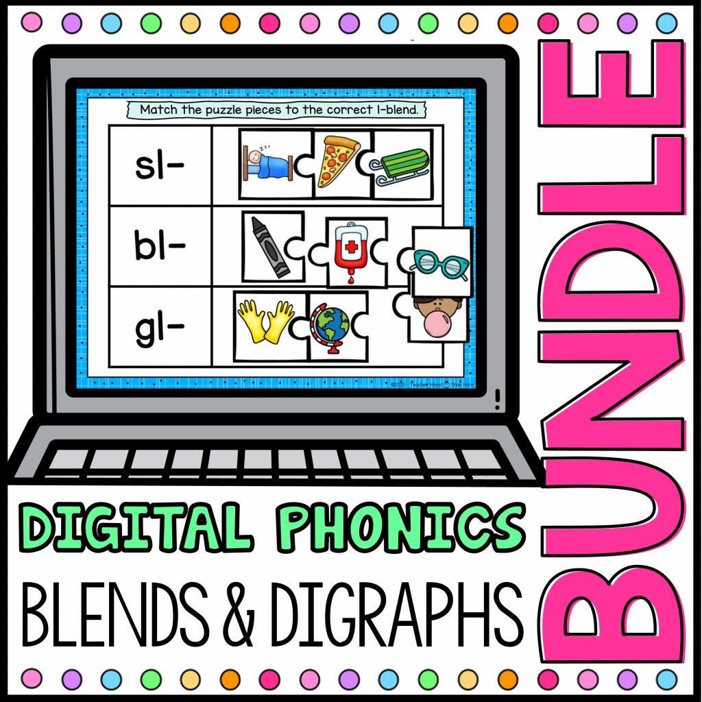 Blends and Digraphs Digital Games and Activities for Google Slides