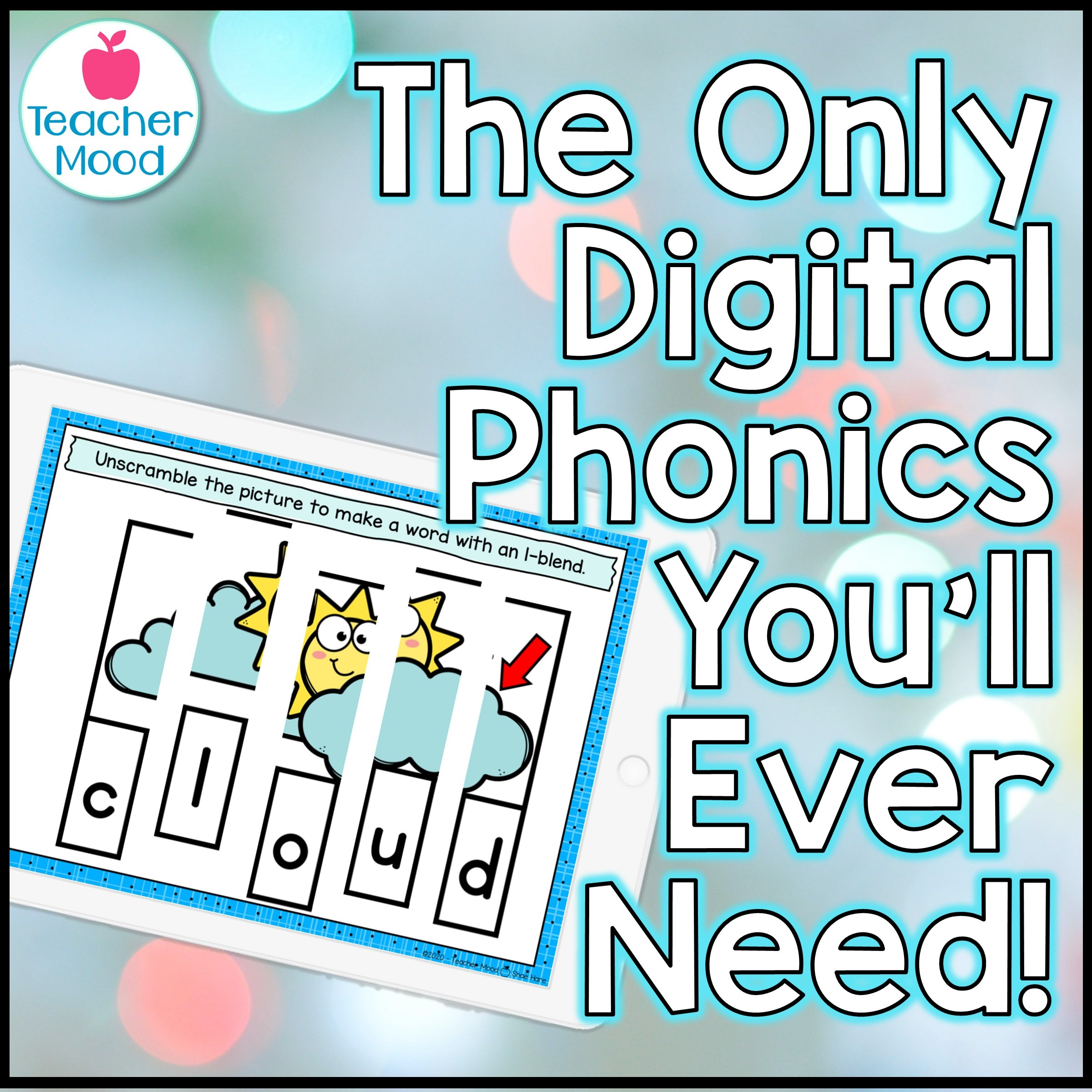 Digital Phonics Google Slides Games and Activities for First and Second grade