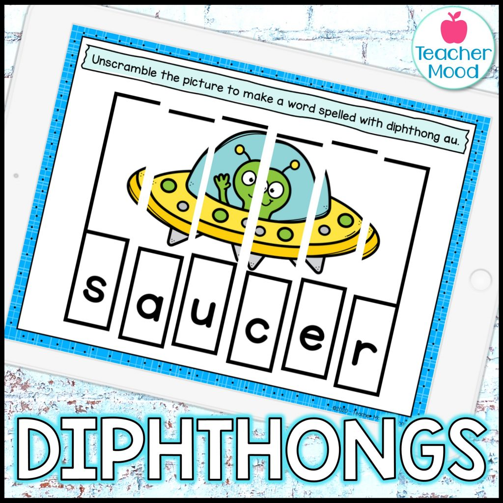 Resources for teaching phonics diphthongs