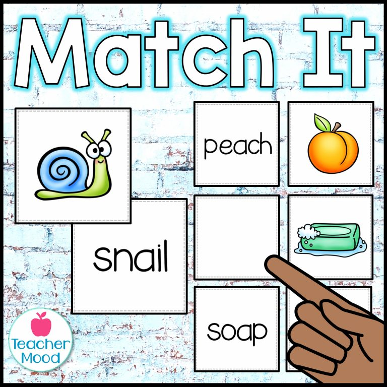matching cards for phonics activities