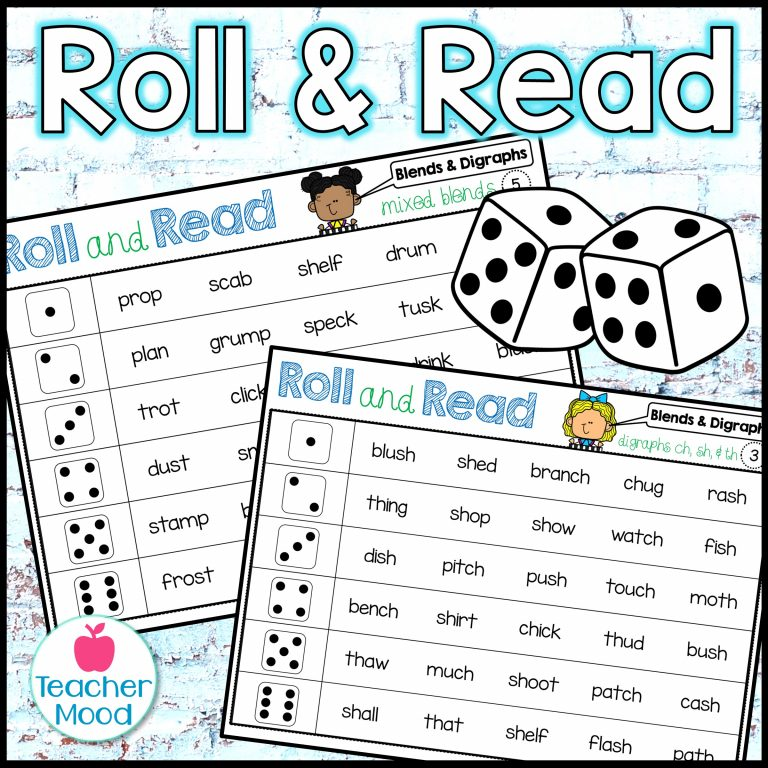 Blends and Digraphs Phonics Activity
