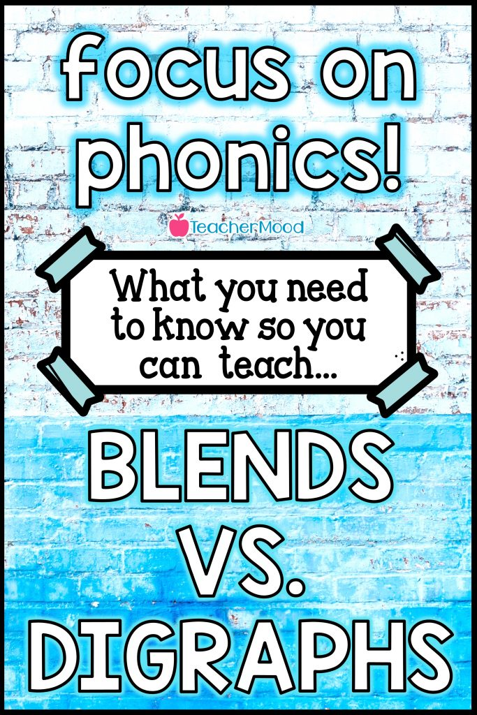 Teaching blends and digraphs.