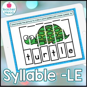 Final Stable Syllables Digital Phonics activities and Games for Google Slides