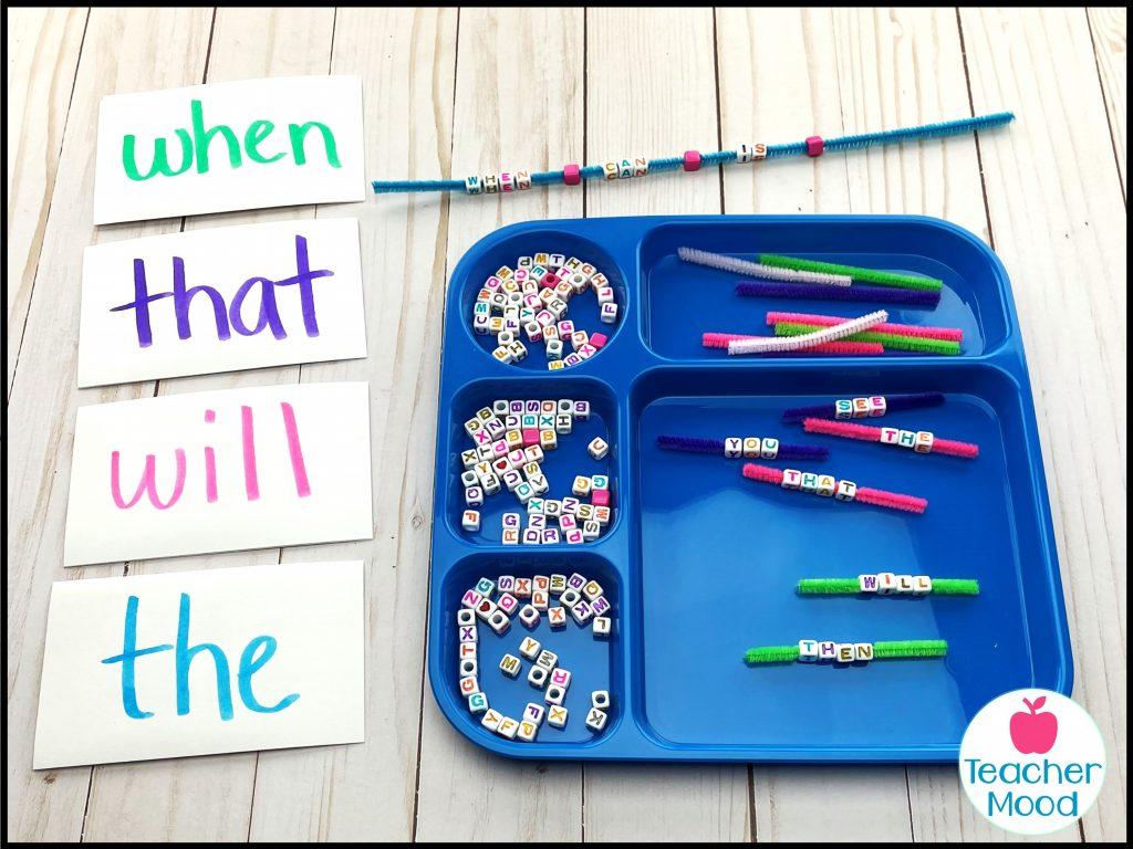 sight ord alphabet bead practice activity