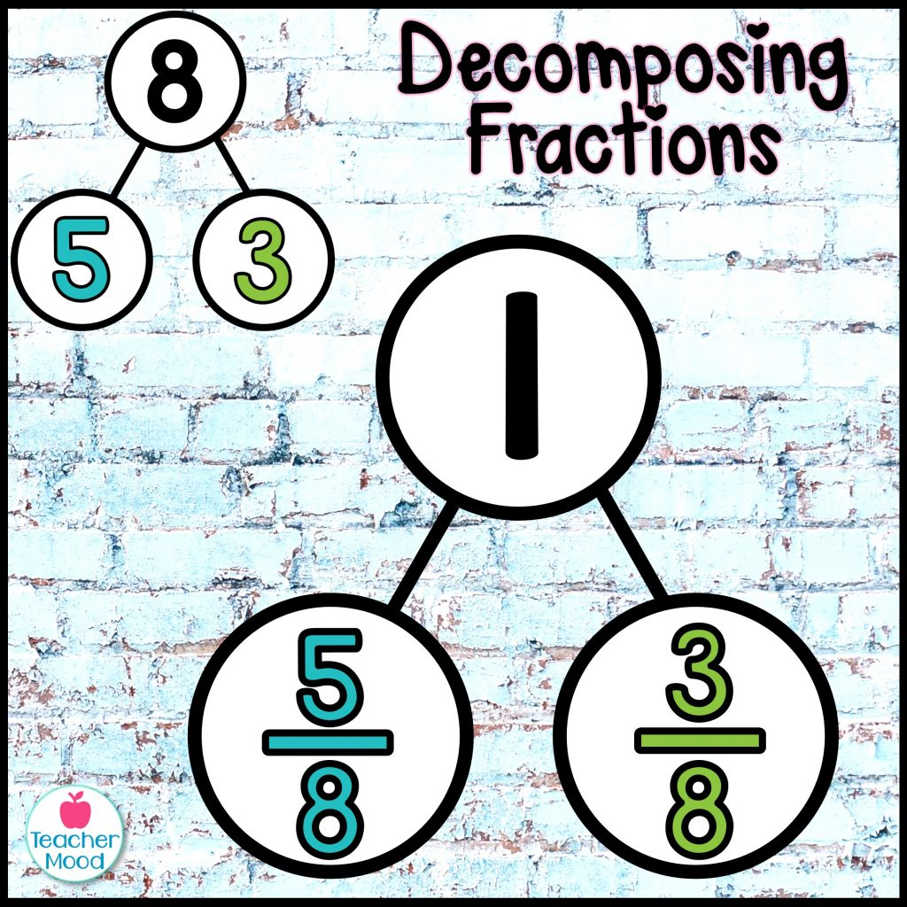 decomposing fractions using number bonds