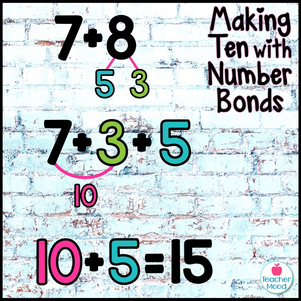 making a ten with a number bond