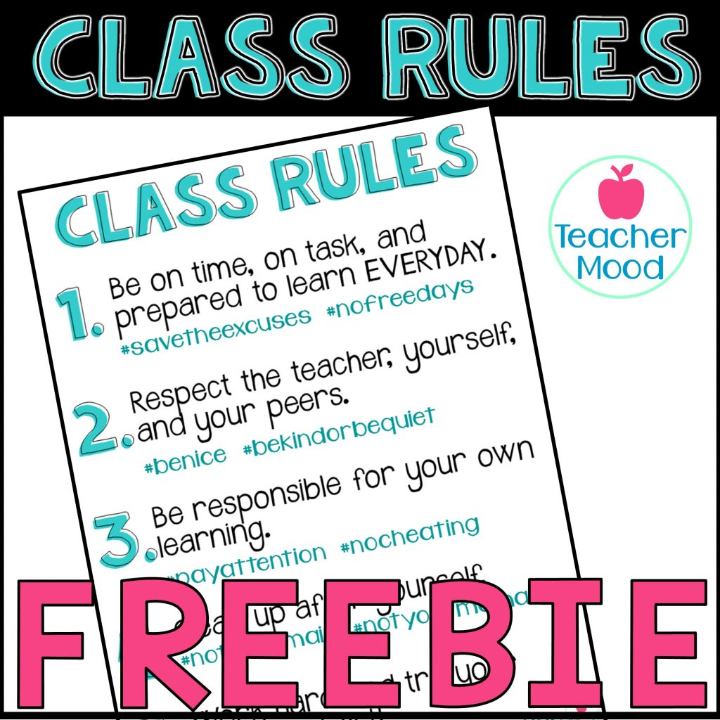 free class rules for first year teachers and classroom management