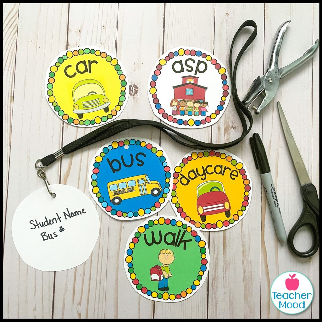 back to school student transportation tags