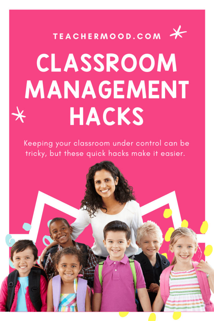 teacher with students working on classroom management